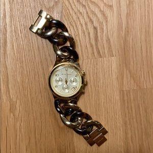 Michael Kors Runway Twist Gold Tone Watch